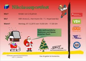Flyer Nikolaussportfest