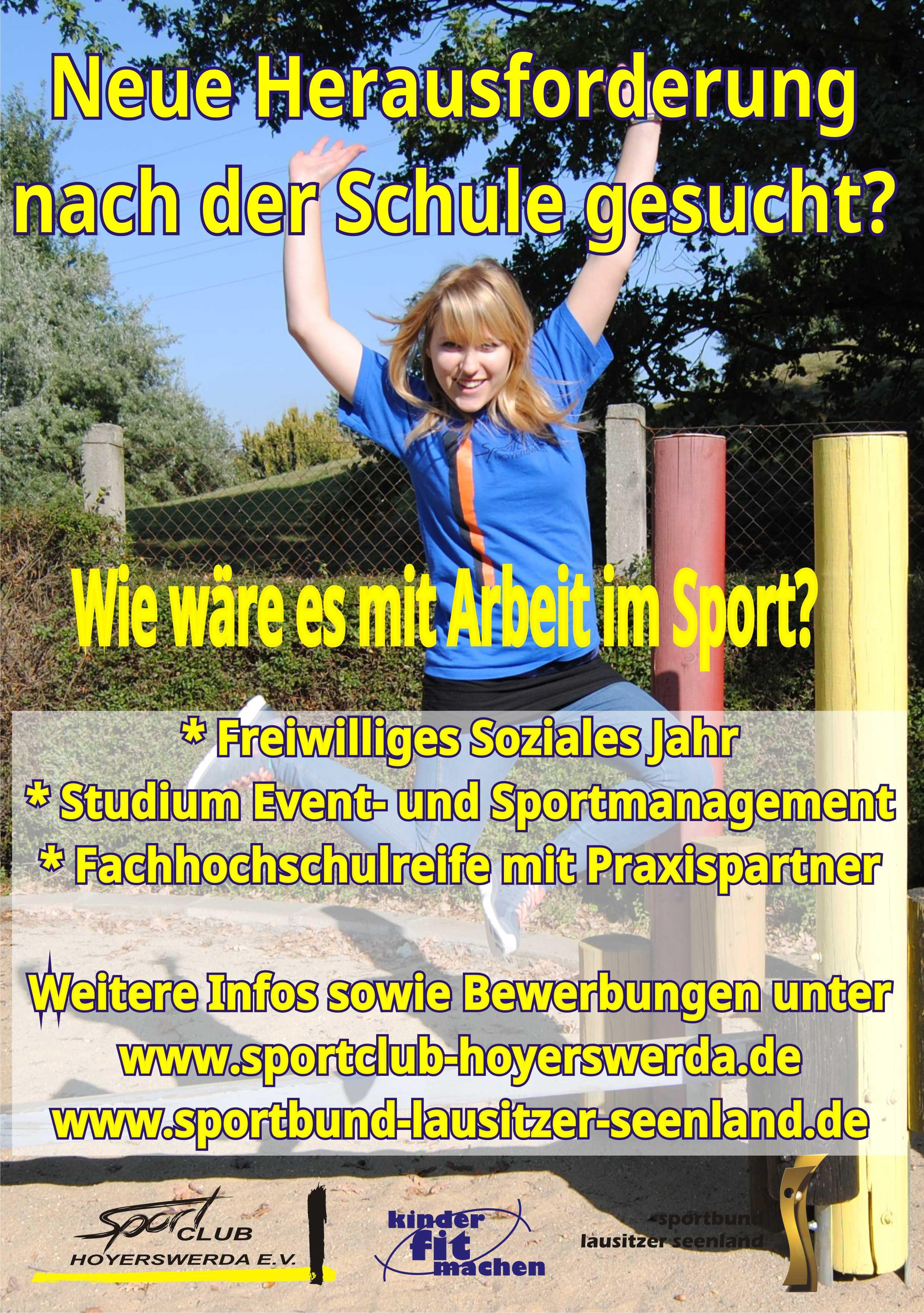 PM Sportlicher Berufseinstieg HY Plakat